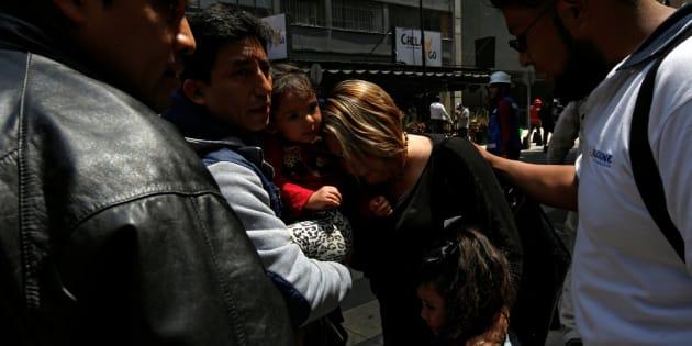Supervivientes en el terremoto de México.