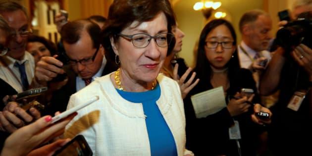 La senadora Susan Collins, cuyo voto ha sido clave para tumbar por tercera vez el proyecto para derogar el Obamacare.