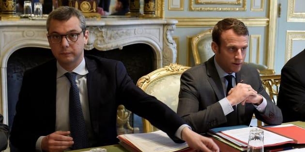 Imagen de archivo de Emmanuel Macron (derecha) y su jefe de gabinete, Alexis Kohler (izquierda).