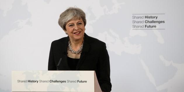 La primera ministra británica, Theresa May, durante su discurso en Florencia (Italia) el 22 de septiembre de 2017.