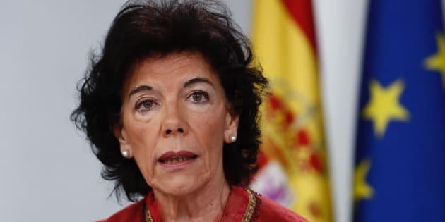 La portavoz del Gobierno y ministra de Educación, Isabel Celáa, este viernes.