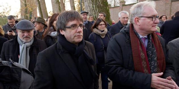 Puigdemont, en el centro de Brujas