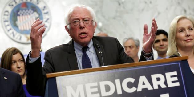 El senador demócrata Bernie Sanders este miércoles.