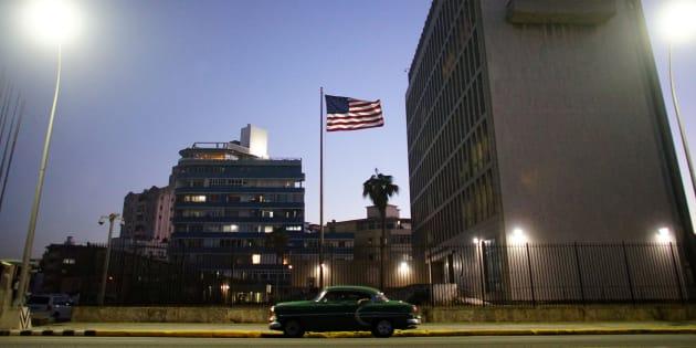 Imagen de archivo de la embajada de EEUU en La Habana.