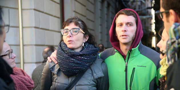 Los concejales de la CUP de Reus (Tarragona) Marta Llorens y Oriol Ciurana.