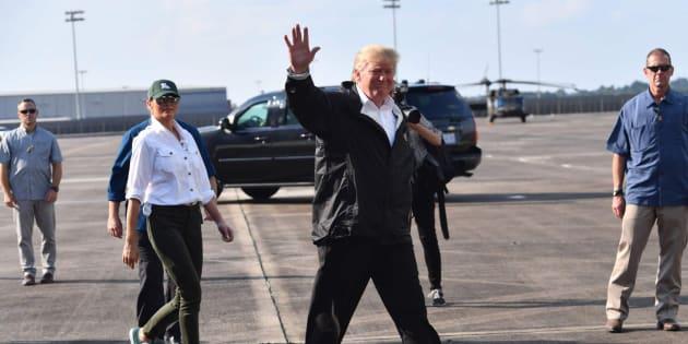 El presidente de EEUU, Donald Trump, el pasado sábado en Texas.