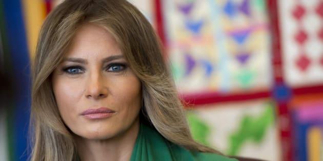 Imagen de archivo de la primera dama estadounidense, Melania Trump.