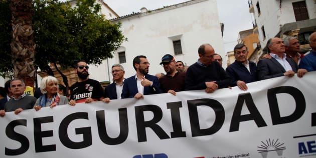 Pancarta en la manifestación de este jueves en Algeciras.