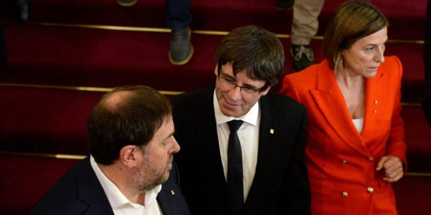 Junqueras, Puigdemont y Forcadell