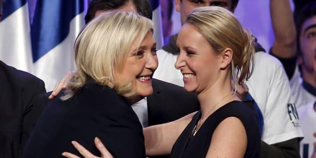 Marine Le Pen (I) y su sobrina, Marion Maréchal-Le Pen. REUTERS/Benoit Tessier/File Photo