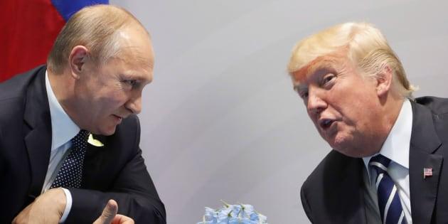 Donald Trump y Vladimir Putin durante el G20 de Hamburg en julio de 2017.