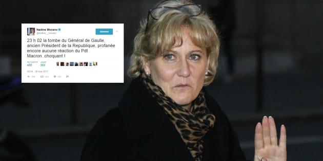 Nadine Morano surfe (aussi) sur la profanation pour attaquer Macron