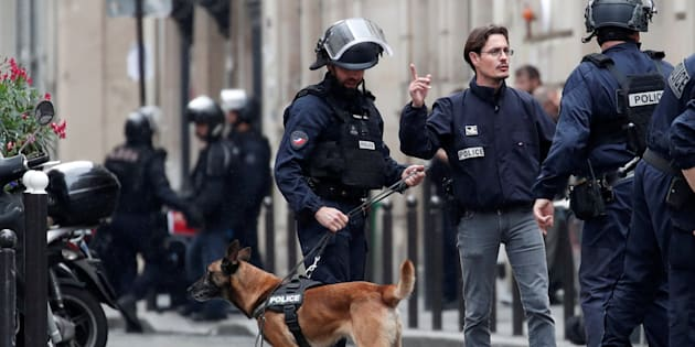 Dispotivo policial desplegado en París.