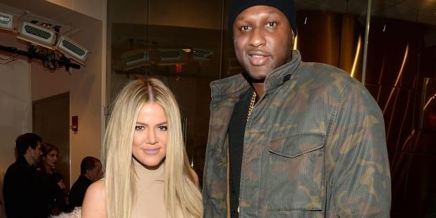 Khloe Kardashian and Lamar Odom at the Yeezy Season 3 presentation in New York, Feb. 11, 2016.