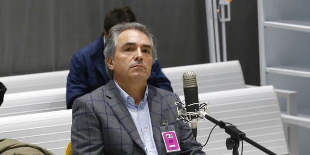 El presidente de Catalunya Acció, Santiago Espot, durante el juicio en la Audiencia Nacional.