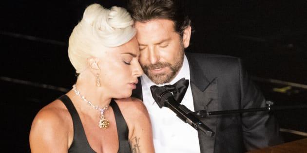 Lady Gaga con Bradley Cooper en los Oscar
