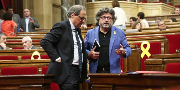 Quim Torra y Antoni Castella