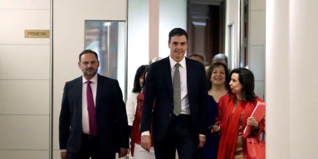 Ábalos, Sánchez y Robles