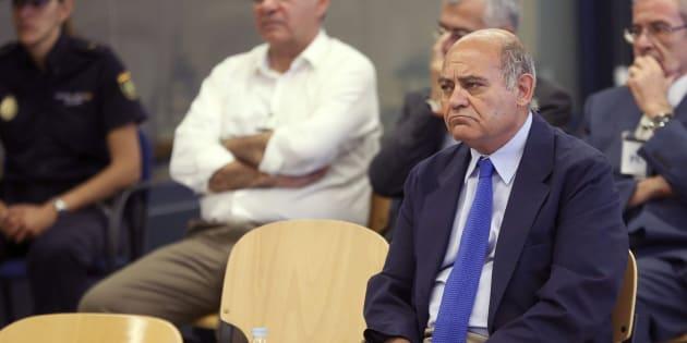 El expresidente de la CEOE y de la patronal madrileña Gerardo Díaz Ferrán, durante el juicio que se celebró en la Audiencia Nacional por el vaciamiento patrimonial de Marsans.