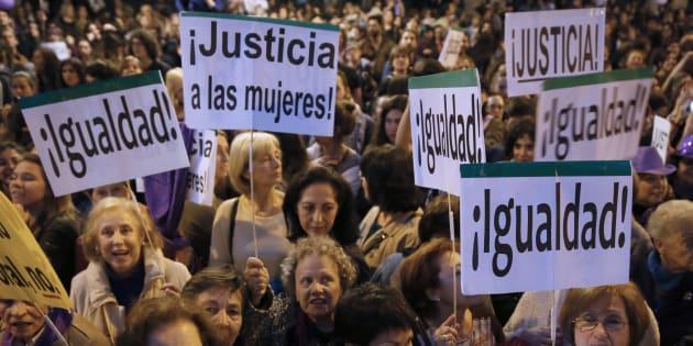 Manifestación en Madrid con motivo del Día Internacional de la Mujer en 2017. EFE/Mariscal