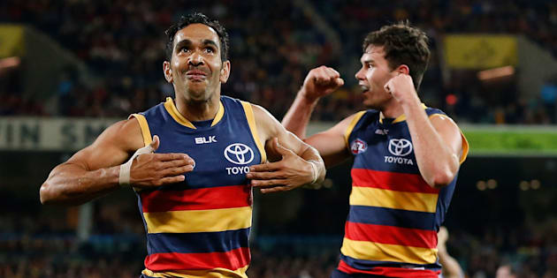 This was Betts in 2016. We like this photo because it reminds us of Nicky Winmar's famous gesture.