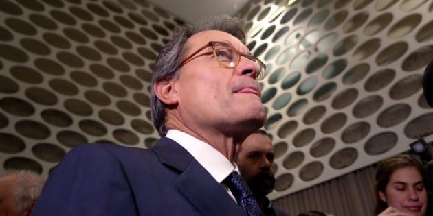 El expresidente de la Generalitat Artur Mas esta semana, antes de participar en el coloquio 'Diálogos sobre Cataluña' , organizado por el Club Siglo XXI