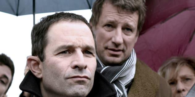 Benoît Hamon et l'écologiste Yannick Jadot, alliés pendant la campagne présidentielle.