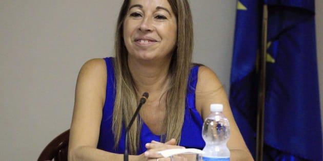 La secretaria de Estado de Función Pública, Elena Collado, durante la reunión de la Mesa General de Negociación de la Administración General del Estado.