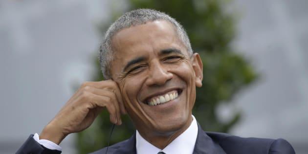 El expresidente de Estados Unidos Barack Obama en una mesa redonda en Berlín (Alemania).