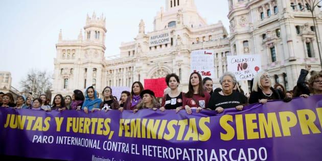 Manifestación del 8 de marzo en Madrid.