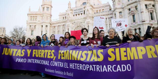 Manifestación feminista del pasado 8 de marzo.