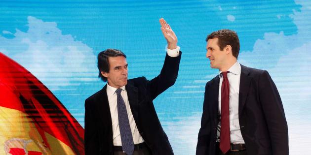 José María Aznar y Pablo Casado.
