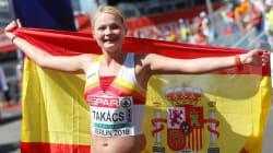 Julia Takacs, bronce en 50 kilómetros marcha, primera medalla española en los campeonatos de Europa de