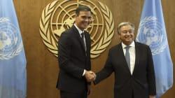 Sánchez transmite al secretario general de la ONU el apoyo al