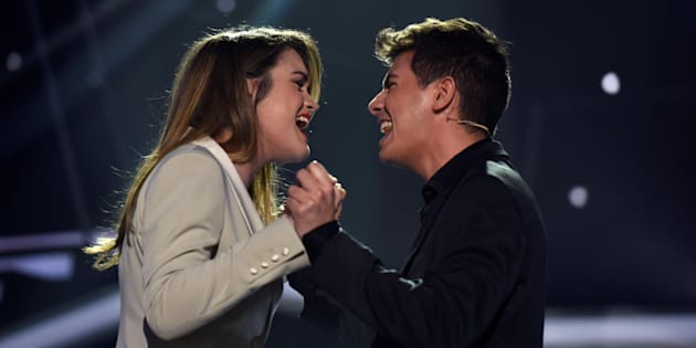 Amaia y Alfred, durante la gala de 'Operación Triunfo' para elegir el representante español en Eurovisión 2018.