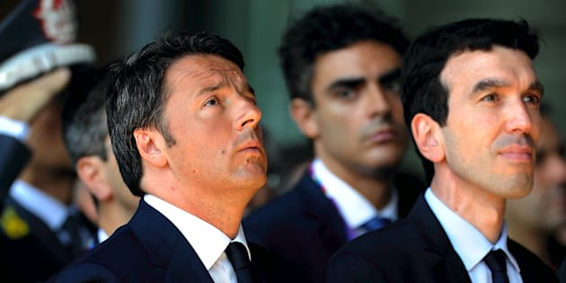 MILAN, ITALY - JUNE 21:  Italian Prime Minister Matteo Renzi and Minister of Agriculture Maurizio Martina  during the visit to Expo 2015 at Milan Rho Fiera on June 21, 2015 in Milan, Italy.  (Photo by Pier Marco Tacca/Getty Images)