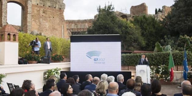 22 ottobre 2016 - Matteo Renzi a Taormina per la presentazione del logo del G7