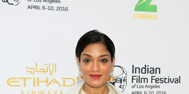 HOLLYWOOD, CALIFORNIA - APRIL 06:  Sandhya Mridul arrives for the 14th Indian Film Festival Of Los Angeles - Opening Night Red Carpet at ArcLight Hollywood on April 6, 2016 in Hollywood, California.  (Photo by Gabriel Olsen/FilmMagic)