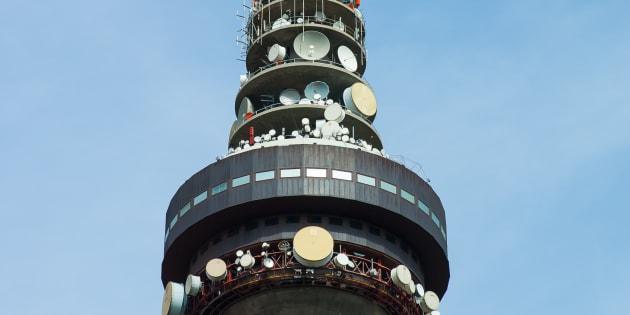 Torrespaña, centro de comunicaciones de RTVE, en Madrid.