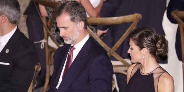 Los reyes de España, Felipe VI y Letizia, asisten a una cena oficial el pasado domingo en EEUU.