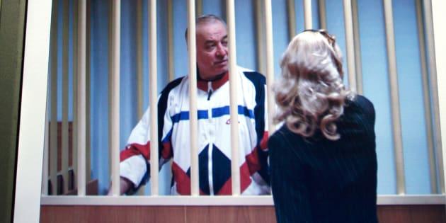 Sergei Skripal en la pantalla de un ordenador en Moscú en 2006.
