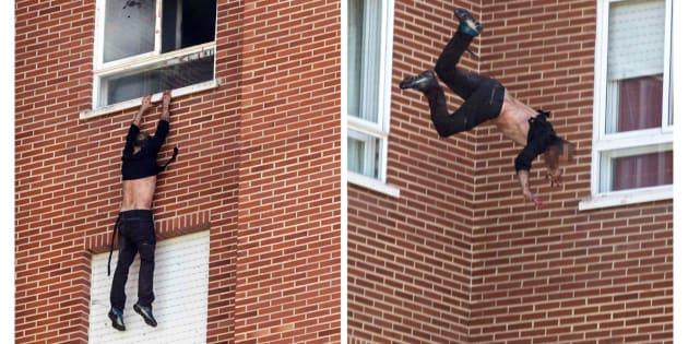El presunto asesino de una madre y su hija en una vivienda de Vitoria ha sido detenido tras prender fuego a la vivienda y saltar desde un octavo piso a una lona colocada por los bomberos.