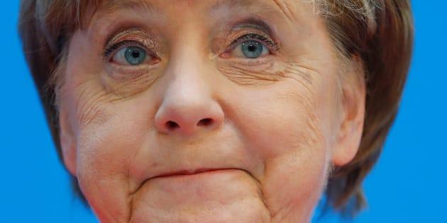 La canciller alemana, Angela Merkel, este lunes.