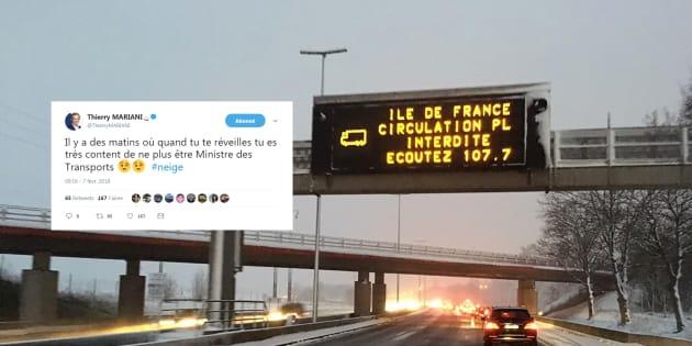 La neige en Île-de-France offre à la ministre des Transports un soutien inattendu