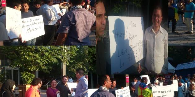 À Montréal, le jeudi 20 juillet 2017, environ trente citoyens se sont rassemblés devant le local d'Amnistie internationaleCanada francophone pour appuyer les revendications du «Hirak» du Rif marocain.