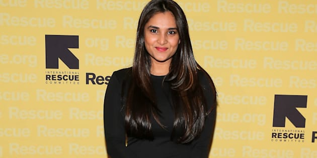 Actress and politician Ramya, also known as Divya Spandana, in 2014.  (Photo by Neilson Barnard/Getty Images for IRC)