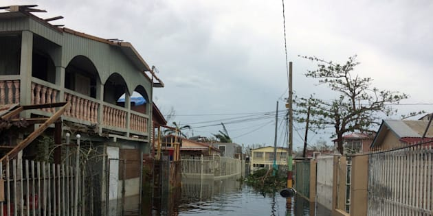 Uno de los vecindarios afectados en Puerto Rico tras el paso del huracán María.
