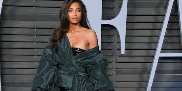 Ciara attends the 2018 Vanity Fair Oscar Party hosted by Radhika Jones at The Wallis Annenberg Center for the Performing Arts in Beverly Hills, California, on Sunday.