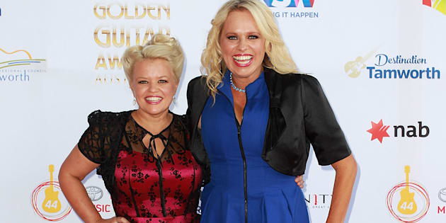 Libby O'Donovan and Beccy Cole at the 44th Golden Guitar Awards in Tamworth.