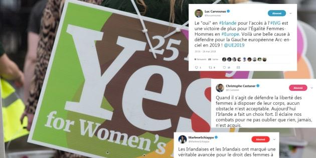 Le résultat du référendum en Irlande salué par (presque) toute la classe politique française.